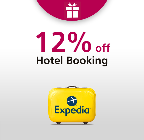 12% off hotel booking
